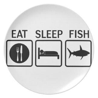 fish eat sleep plate