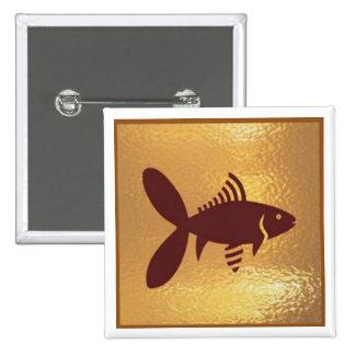 Fish Exotice Marine Life - Medal Icon Gold Base Pins