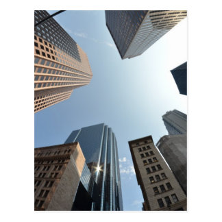 Fish-eye lens of building, Boston, US Postcard