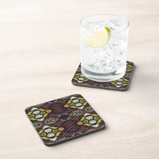 Fish-eye Stained Glass Print Coaster Set