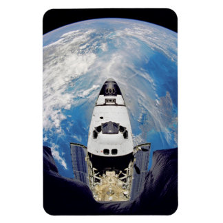 Fish-Eye View of Shuttle Atlantis Rectangular Photo Magnet