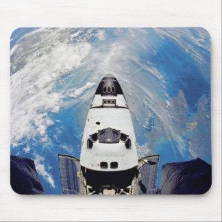 Fish Eye View Space Shuttle Atlantis Earth Orbit Mouse Pad