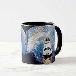 Fish Eye View Space Shuttle Atlantis Earth Orbit Mug