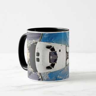 Fish Eye View Space Shuttle Atlantis Earth Orbit Mug