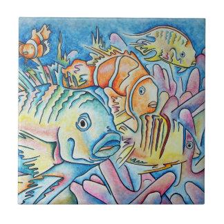 Fish Fantasy Small Square Tile