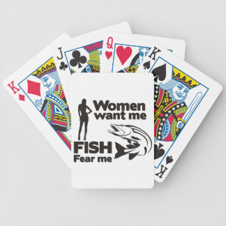 Fish Fear Me Bicycle Playing Cards