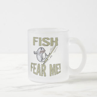 Fish Fear Me T-shirts and Gifts Frosted Glass Mug