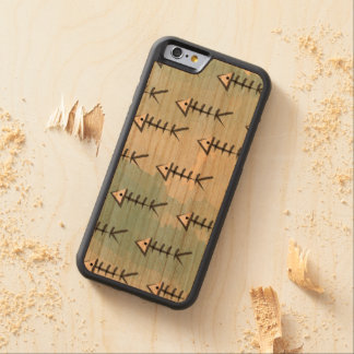 Fish Fin Washed Watercolor Case Carved® Cherry iPhone 6 Bumper
