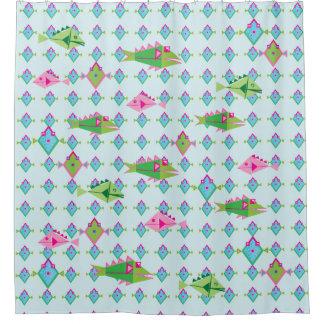 Fish fish fish shower curtain