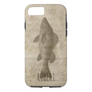 Fish Fishing Vintage Rustic Perch Fisherman iPhone 8/7 Case