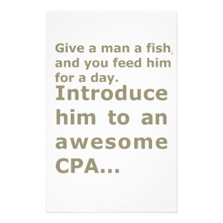 Fish for a day or Awesome CPA Personalised Stationery