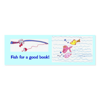 Fish for a good book! business card template