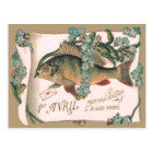 Fish Forget-Me-Not Letter Postcard