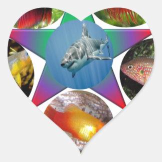 fish,goldfish,carp, fishing, sea, ocean, animal heart sticker
