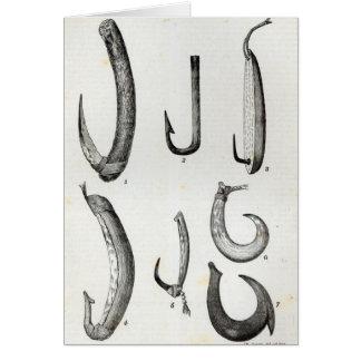 Fish-hooks of Prehistoric and Uncivilised Card