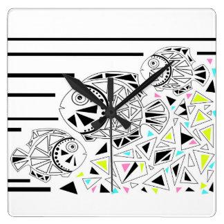 Fish . Horoscope . Clocks