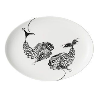 Fish, Horoscope, Zodiac Porcelain Serving Platter
