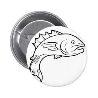 Fish illustration pin