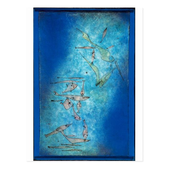 Fish Image - Paul Klee Postcard