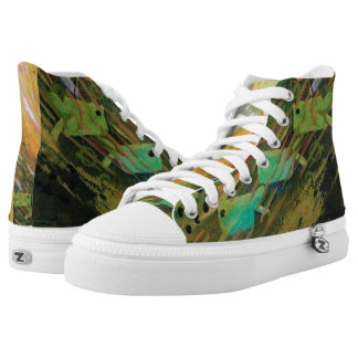 Fish in a Green Sea High Tops