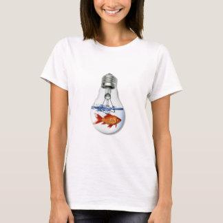 Fish in a Light Bulb Aquarium T-Shirt