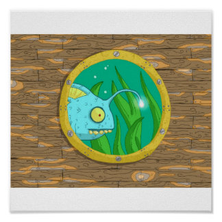 fish in a porthole poster