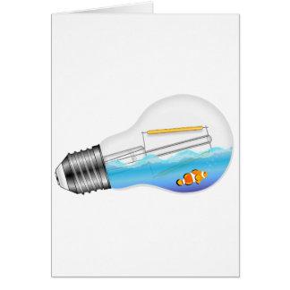 Fish in Lightbulb Card