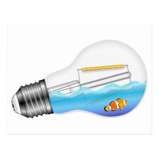 Fish in Lightbulb Postcard