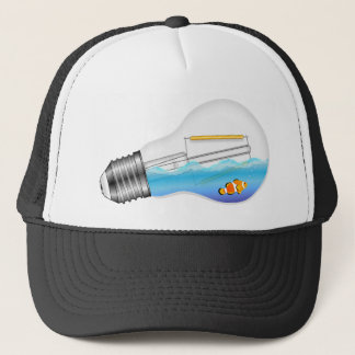 Fish in Lightbulb Trucker Hat