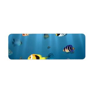 Fish In The Ocean Return Address Label