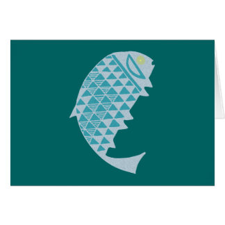 Fish Indian fish native American Card