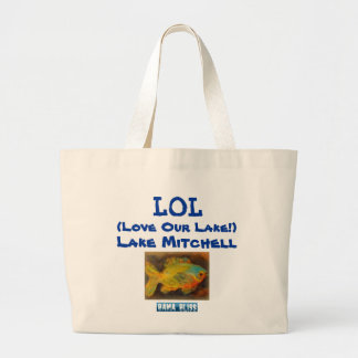"Fish Jumbo Tote Bag ""LOL Lake Mitchell"""