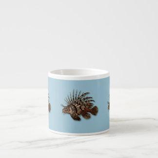 Fish lionfish aquatic seawater aquarium 6 oz ceramic espresso cup