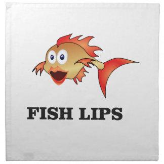 fish lips napkin