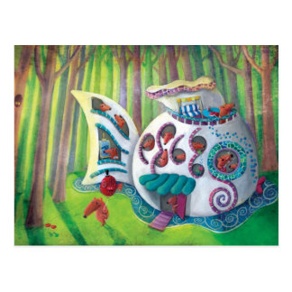 Fish Magical  Mansion in the Forest Postcard