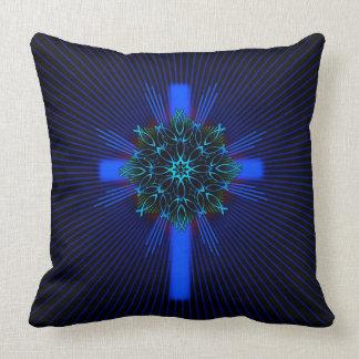 Fish Mandala and Cross Cushion