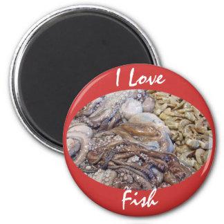 Fish Market 6 Cm Round Magnet