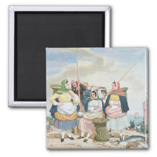 Fish Market by the Sea, c.1860 (oil on canvas) Fridge Magnets