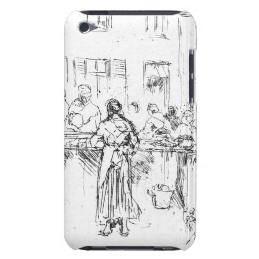 Fish Market Ostend Belgium 1860 Barely There iPod Covers