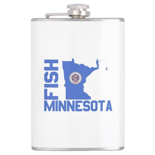 Fish Minnesota Hip Flask