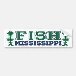 Fish Mississppi Bumper Sticker