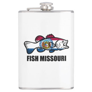 Fish Missouri Hip Flask