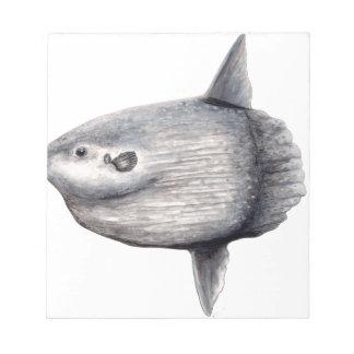 Fish moon notepad