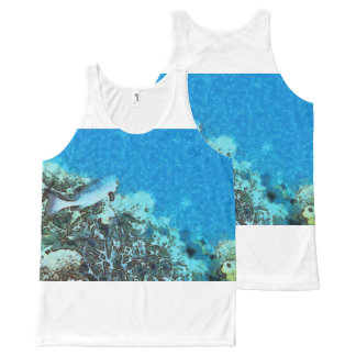 Fish moving over the reef All-Over print singlet