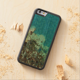 Fish moving over the reef carved cherry iPhone 6 bumper case