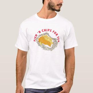FISH N CHIPS FOR TEA TEE SHIRT
