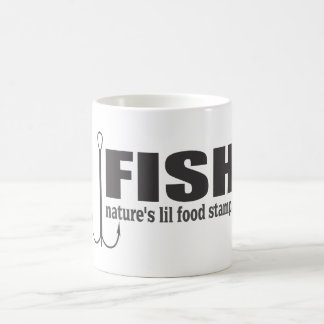 Fish Natures Lil Food Stamps Basic White Mug
