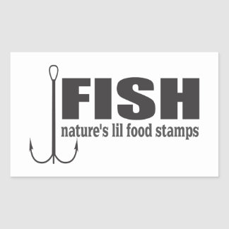 Fish Natures Lil Food Stamps Rectangular Sticker