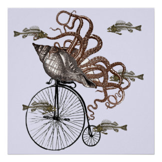 Fish Needs A Bicycle Print