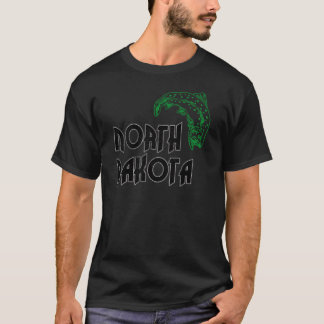 FISH NORTH DAKOTA VINTAGE LOGO T-Shirt